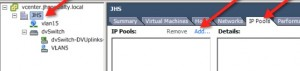 vCenter Operations Manager IP Pools Tab Step 1