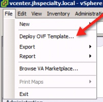 vCenter Operations Manager 5.3 Installation Deploy OVF Template Step