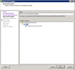 vCenter Operations Manager 5.3 Install Configure Name