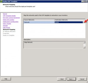 vCenter Operations Manager 5.3 Install Select Network