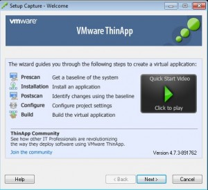 How to ThinApp the vSphere 5.1 vCenter Client for Windows 7 Step 1