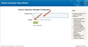 Installing and Configuring VMware Horizon Connector Step 4