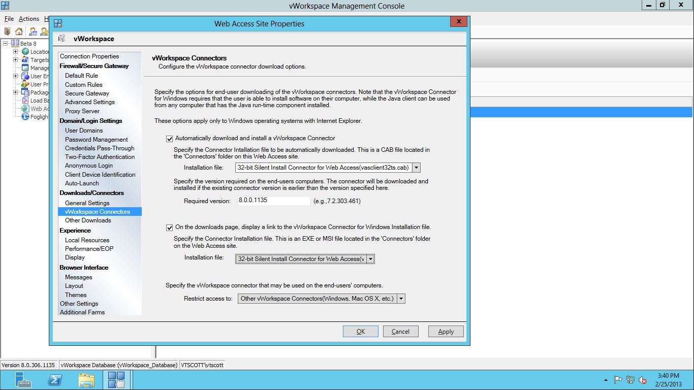 Configure vWorkspace Web Access | vmware admins