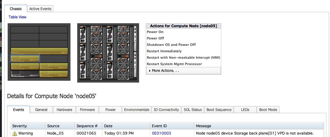 After Updating the IBM PureFlex CMM Firmware, Compute Nodes