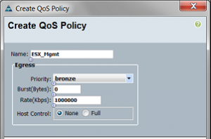 Creating Cisco UCS QOS Policies
